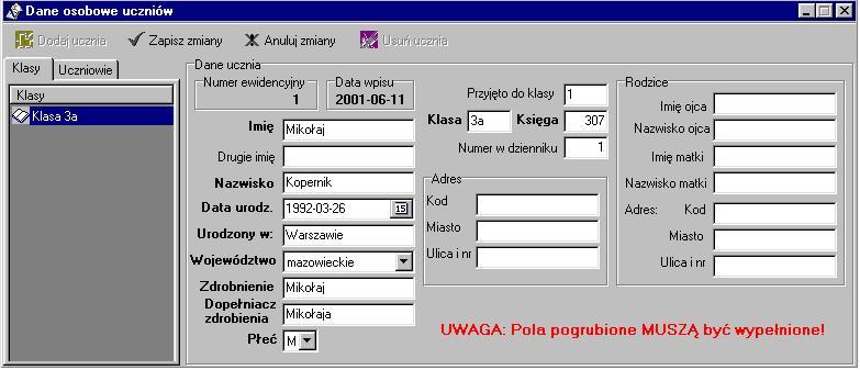program komputerowy quotocopquot dane osobowe